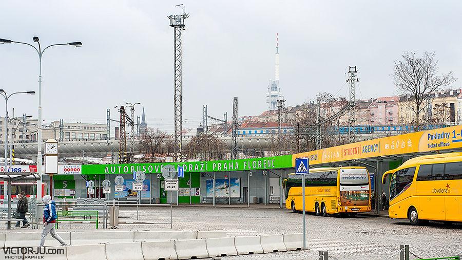 Автовокзал Florenc, Прага