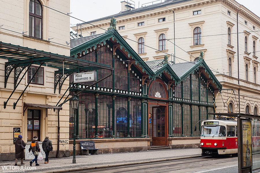 Железнодорожный вокзал в Праге - Masarykovo Nádraží