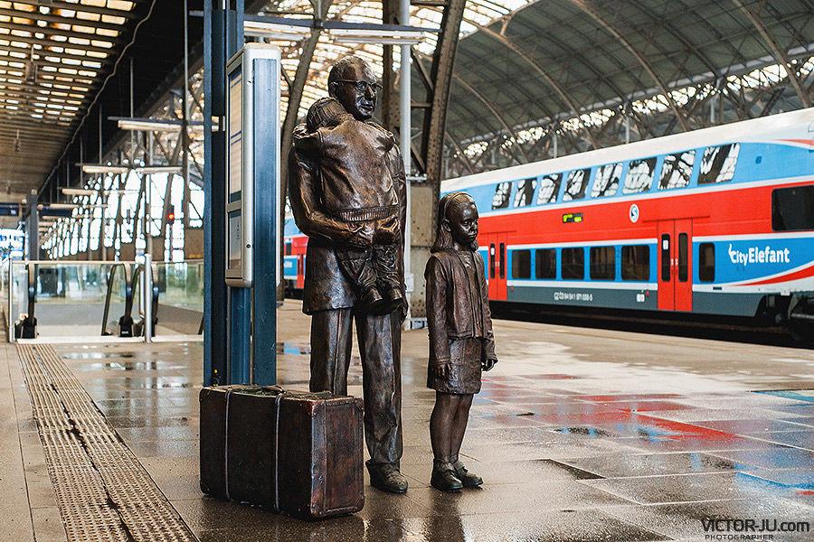 Главный железнодорожный вокзал в Праге