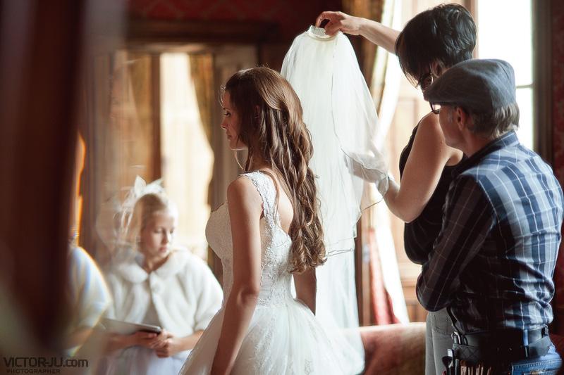 Сборы невесты Екатерины - свадьба во Франции