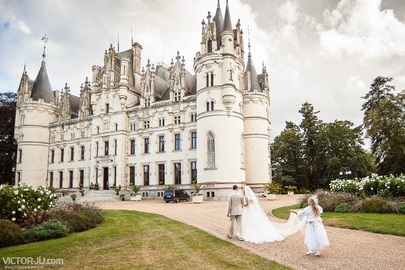 Свадьба в замке Château de Challain
