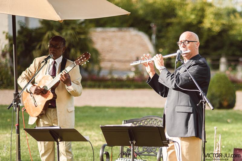 Музыканты на французской свадьбе в замке Château de Challain