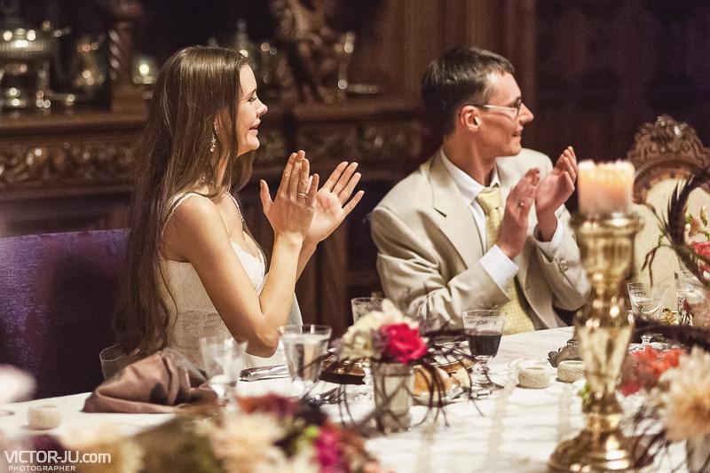 Свадебный вечер в замке Франции