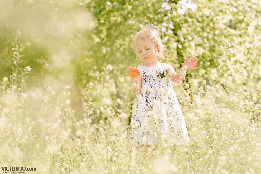 Детское фото на природе