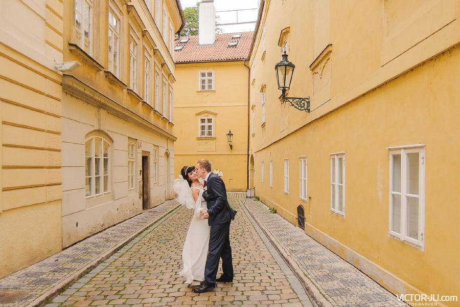 Свадебная прогулка в Праге