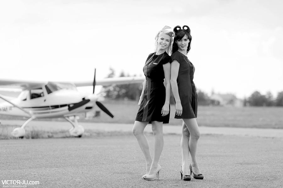 Необычная летняя фотосессия девушек в Чехии