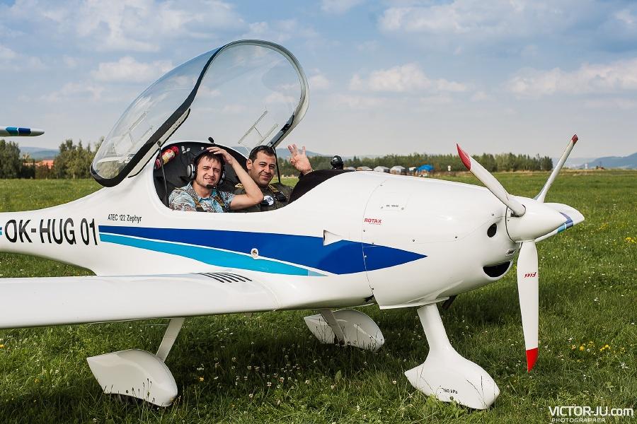 Ознакомительный полет над Чехией на самолете с пилотом