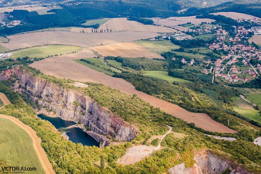Фото кусочка Чехии с высоты птичьего полета