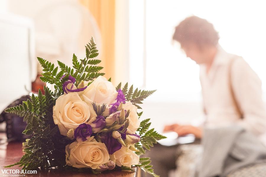 Букет невесты на свадьбе в Праге