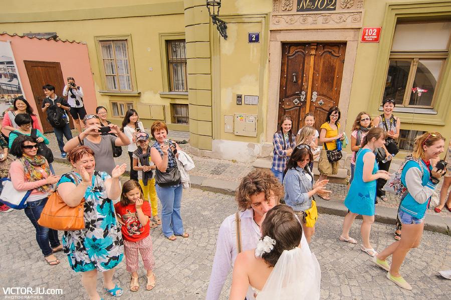 Необычная свадьба в Праге