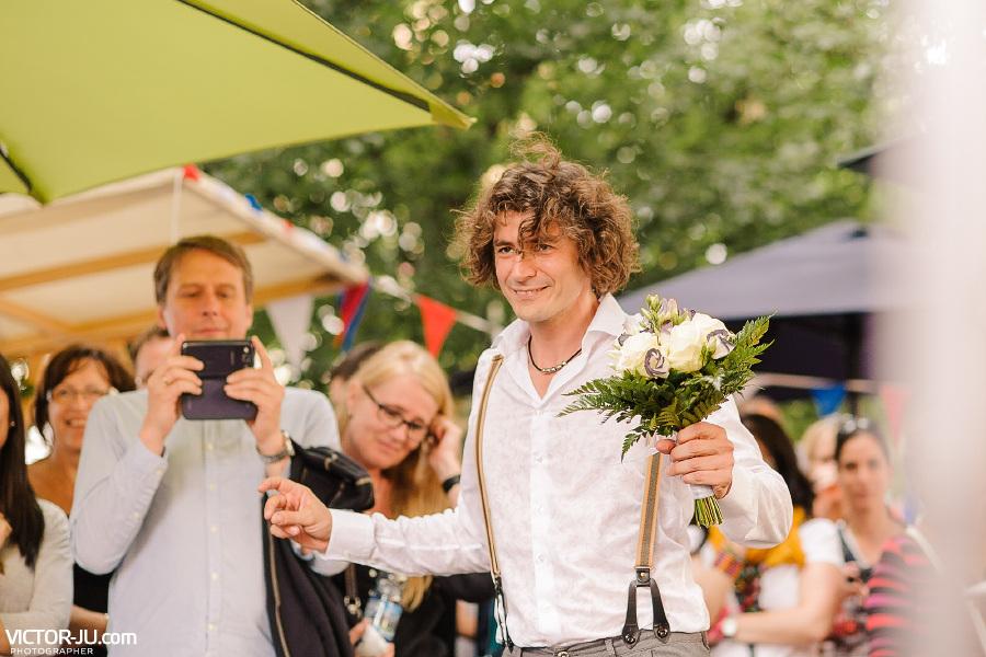 Жених на свадьбе в Праге