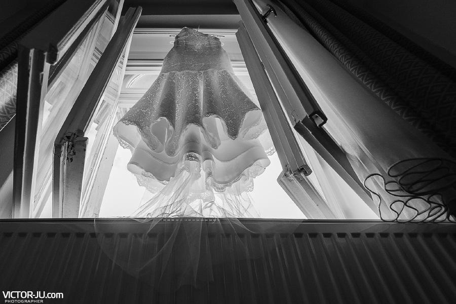 Платье невесты на свадьбе в Чехии
