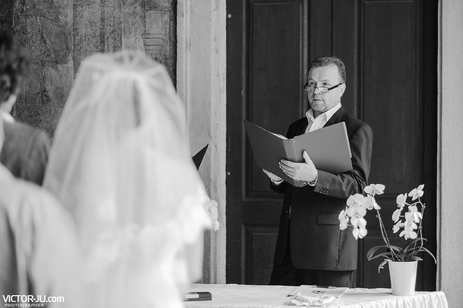 Регистратор на свадьбе в Праге