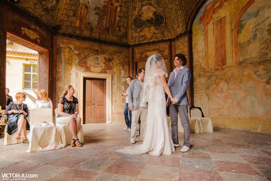 Официальная церемония бракосочетания в Праге
