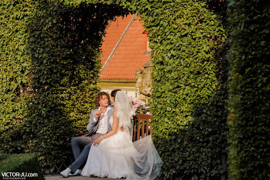 Свадебная фотосессия молодоженов в Праге