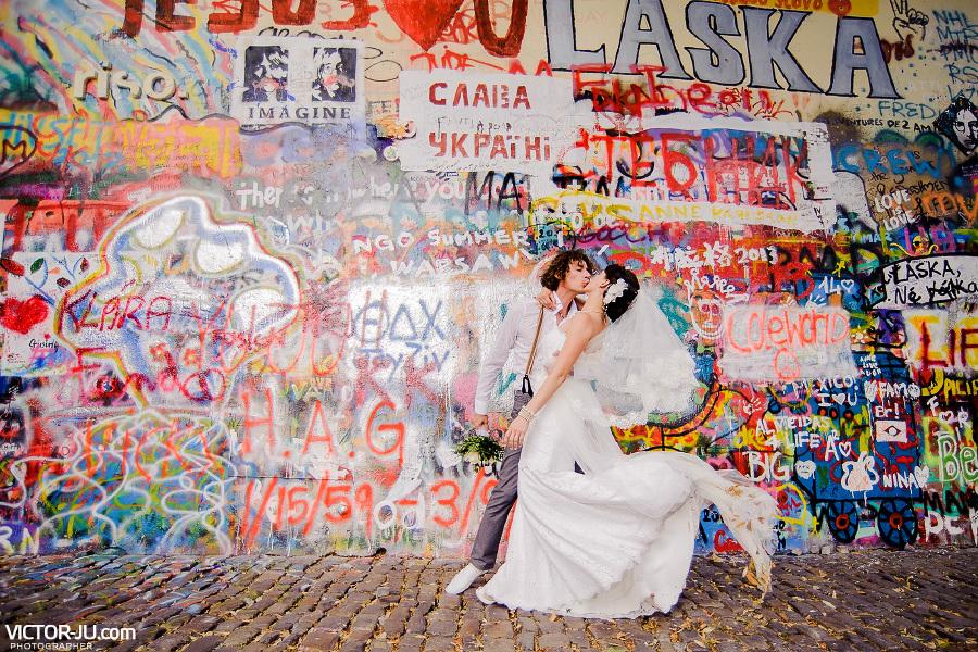 Свадебная фото прогулка в Праге