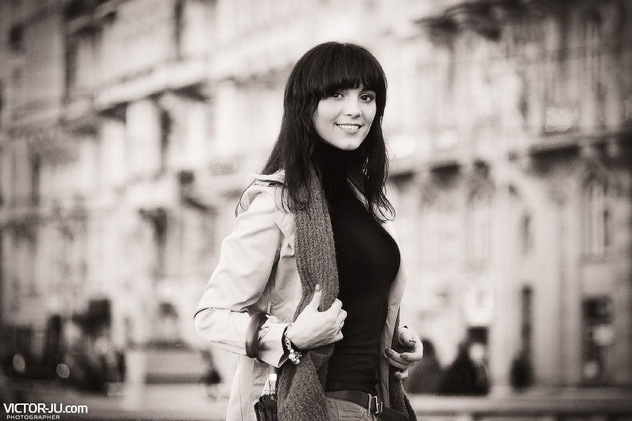 Фото девушки в Праге