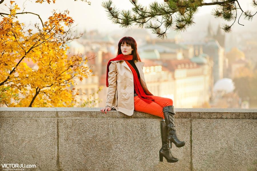 Осенняя прогулка с фотографом в Праге