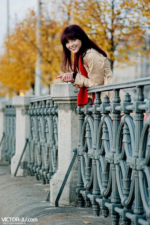 Осень в Праге портрет девушки