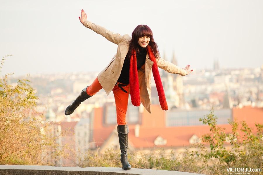 Веселая осенняя фотосессия в Праге