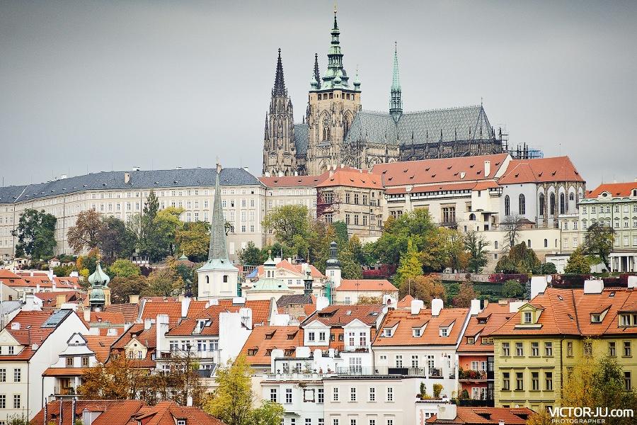 Пражский град и собор святого Вита фото