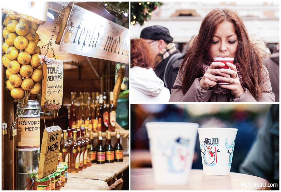 Горячие напитки и глинтвейн на Рождество в Праге