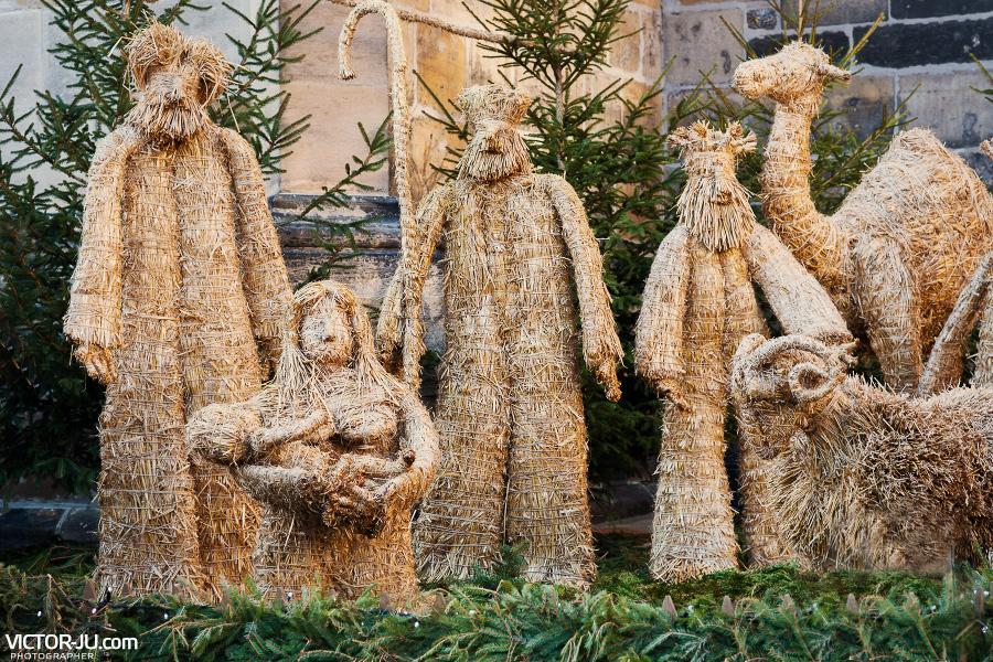 """Рождественские декорации """"вертеп"""" в Праге"""