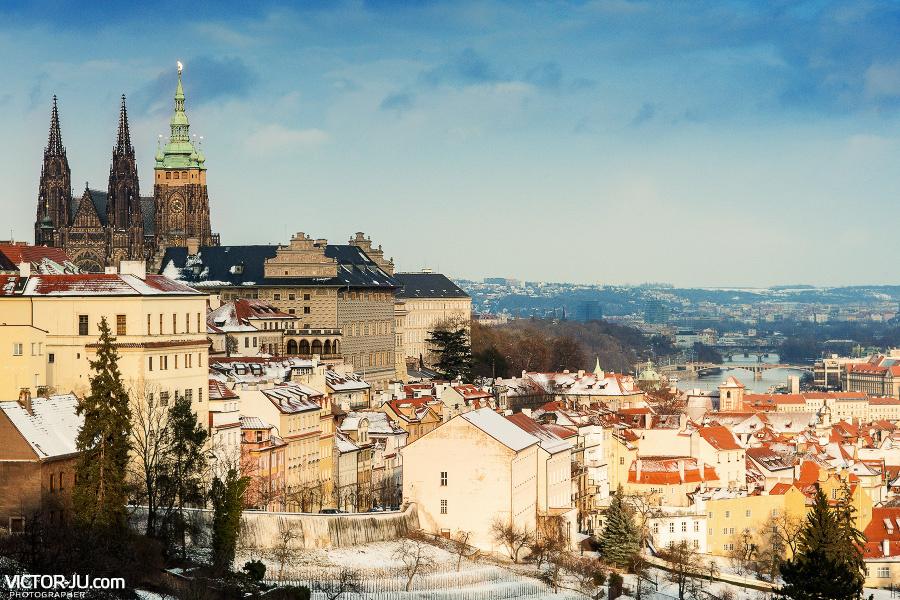 Прага зимой фото