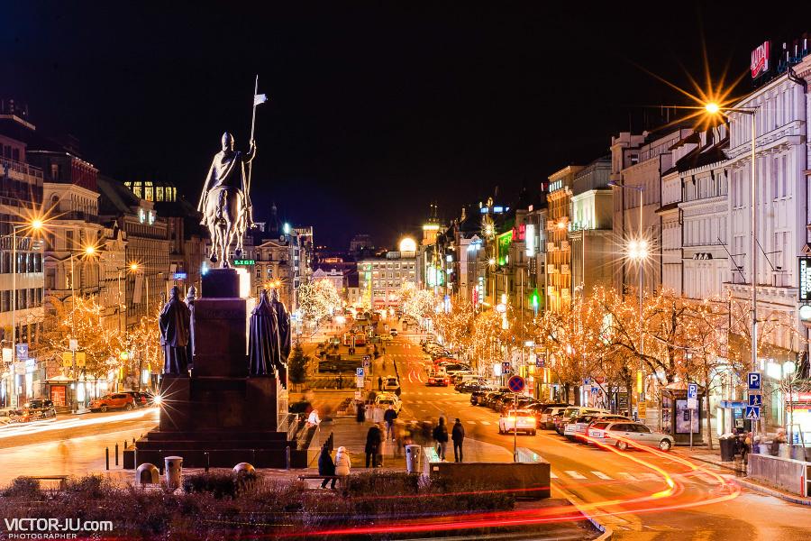 Вацлавская площадь зимой фото