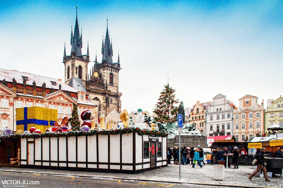 Староместская площадь в Праге зимой фото