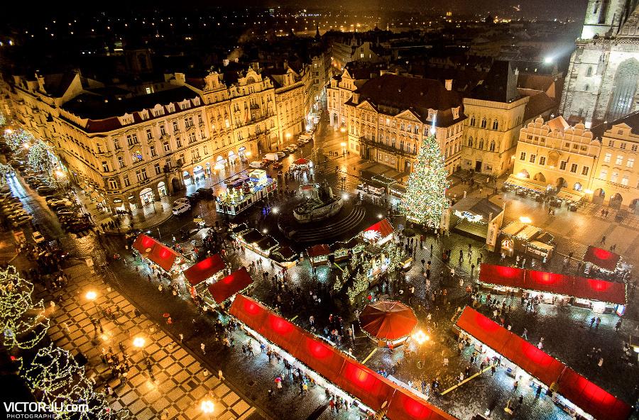 Рождественская ярмарка в Праге фото