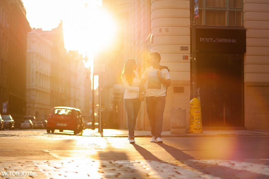 Солнечная утренняя прогулка с фотографом в Праге