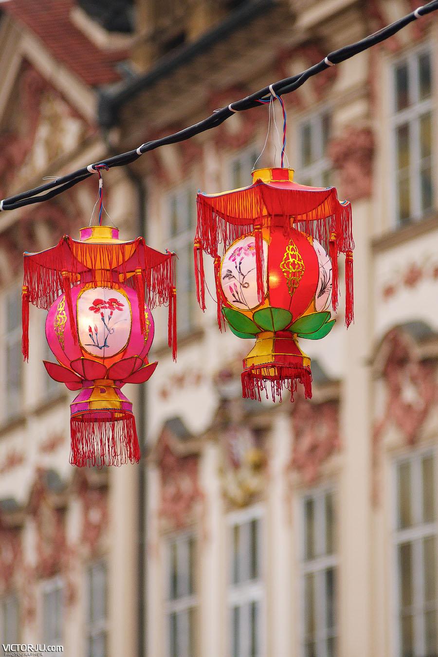 Праздничные китайские фонари