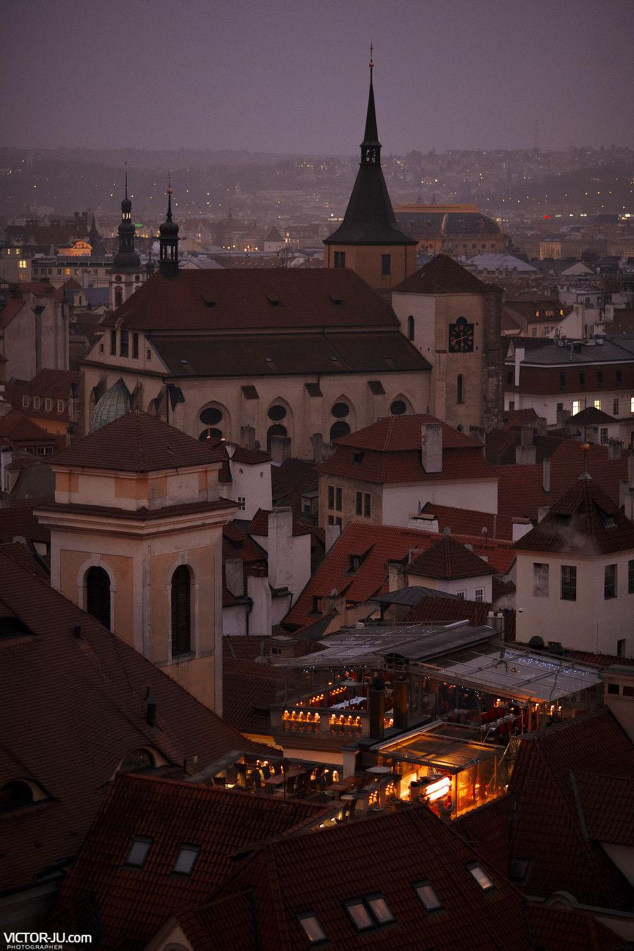 Прага. Фотография со Староместской ратуши