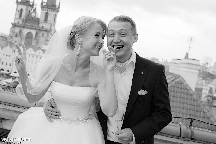 Осенняя свадьба в Праге фото