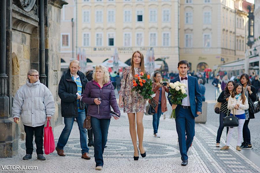 гости на свадьбе в Чехии