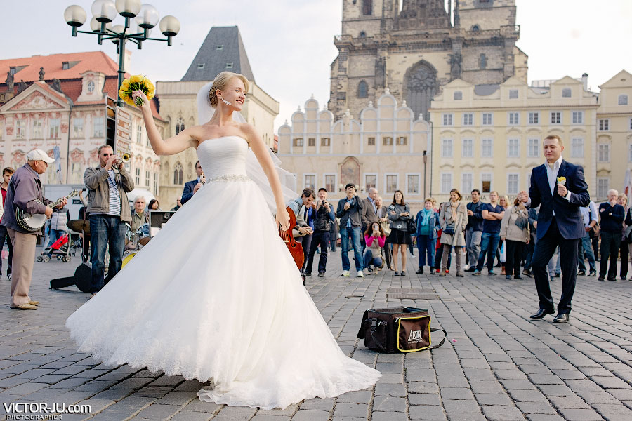 Осенняя свадьба в Праге