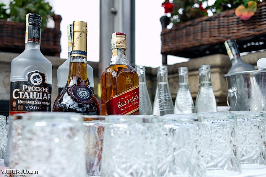Напитки на свадебный ужин
