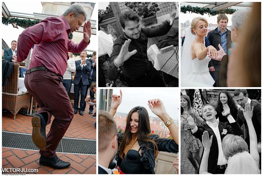 Зажигательные танцы на свадьбе в Чехии