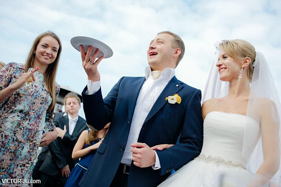 Торт на свадьбе осенью в Праге