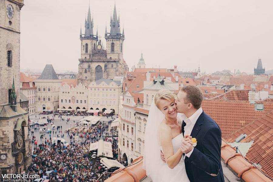 Свадьба в Чехии осенью