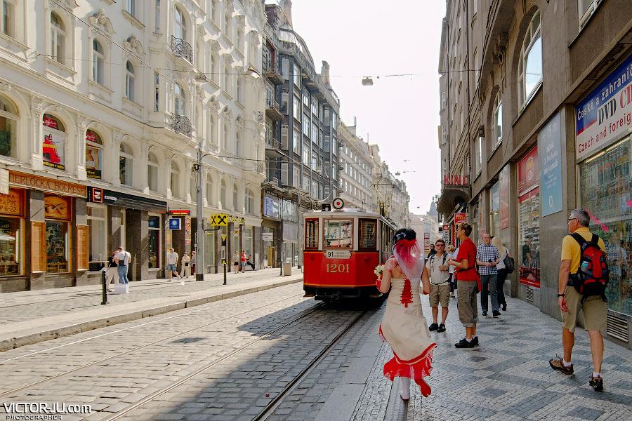 91й трамвай в Праге