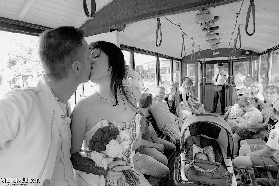 Проезд в трамвае 91 Прага
