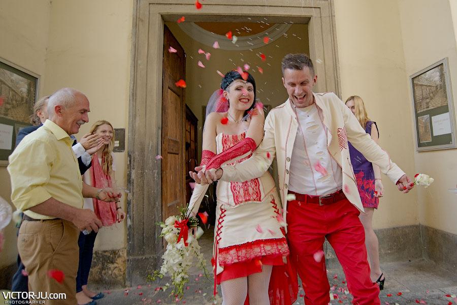 Символическая свадьбы в Чехии