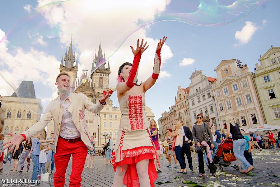 Необычная свадьба в Праге фото