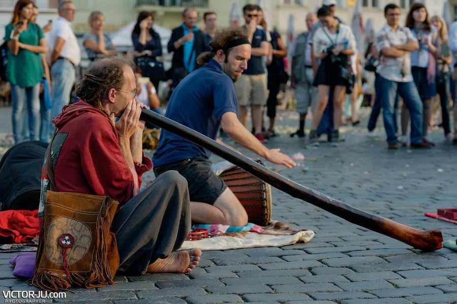 Уличные музыканты Прага