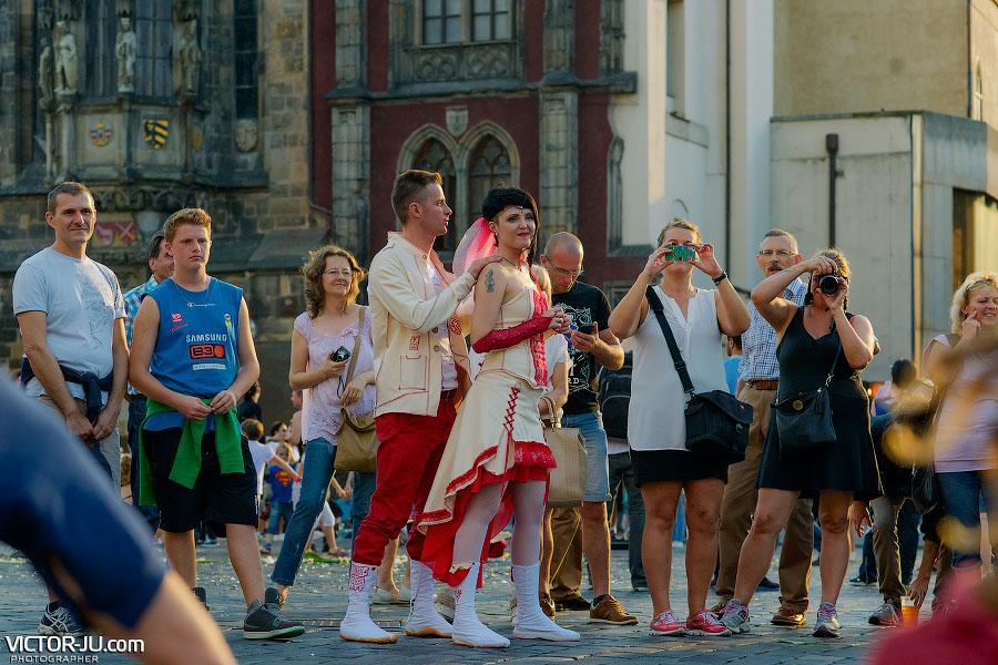 Свадьба в Праге осенью