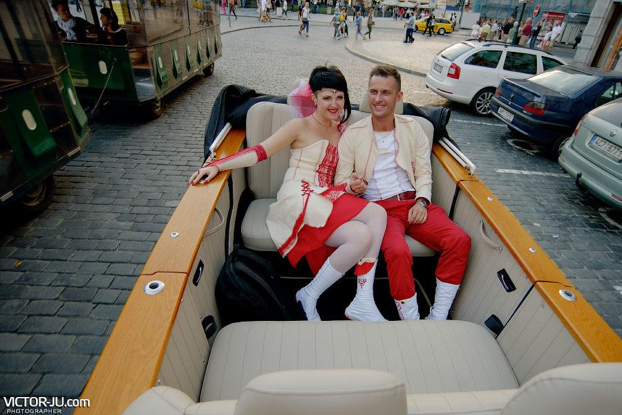 Аренда ретро-автомобиля на свадьбу в Праге