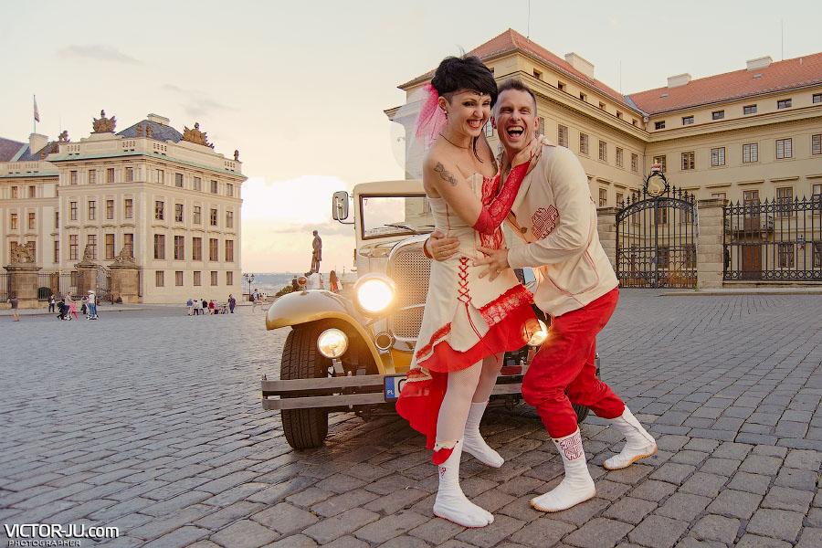Яркая свадьба в сентябре в Праге