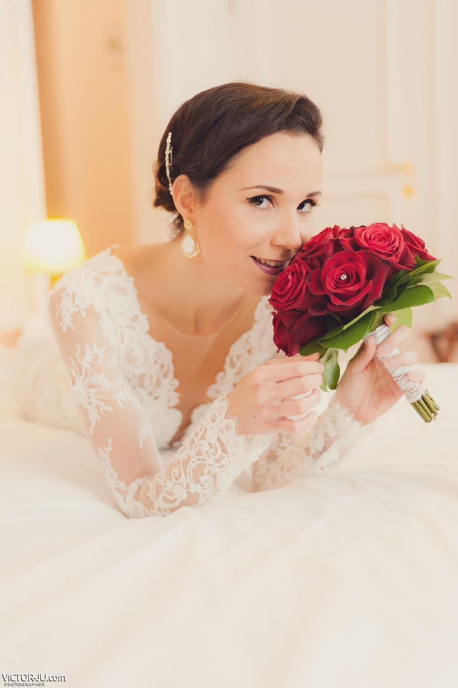Красивое утро невесты